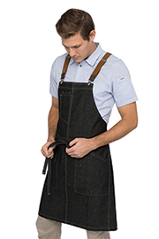 Berkeley Bib Apron: Black Denim