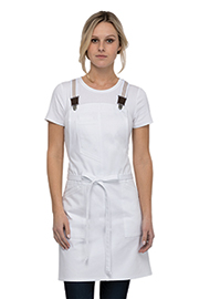 Berkeley Women's Petite Bib Apron: White