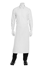 Two Pocket Bistro Apron: White
