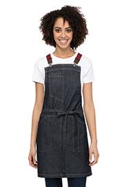 Berkeley Women's Petite Bib Apron: Indigo Denim