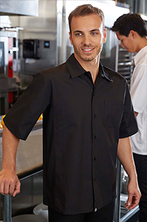 Cool Vent™ Cook Shirt: Black - side view