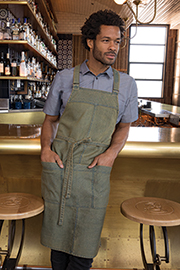 Uptown Cross-Back Bib Apron