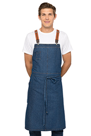 Berkeley Chefs Bib Apron: Medium Blue