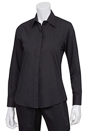 Womens Black Essential Dress Shirt