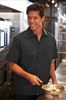 Pinstripe Cook Shirt - side view
