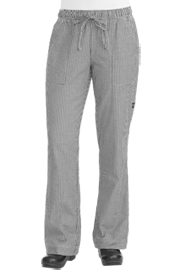 Womens Chef Pants: Small Check