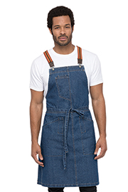 Berkeley Bib Apron: Medium Blue