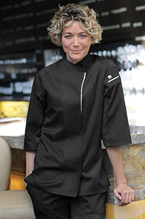 Verona V-series Womens Chef Coat - side view
