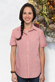 Gingham Womens Short-Sleeve Shirt - side view
